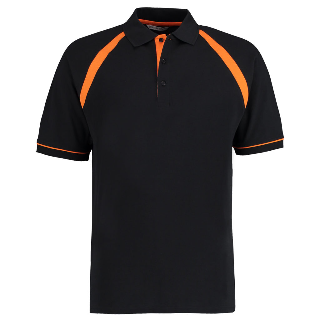 Black Orange Poloshirt
