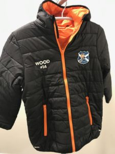 Padded Jacket Embroidered North Ayrshire Ice Hockey Club (1)