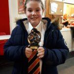 Emma M with Man of Match Award