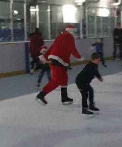 Santa takes to the ice