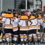 Penguins 11 v Belfast 2 Huddle