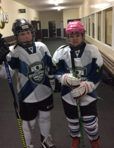 Emma L & Emma M ready for Girls development game